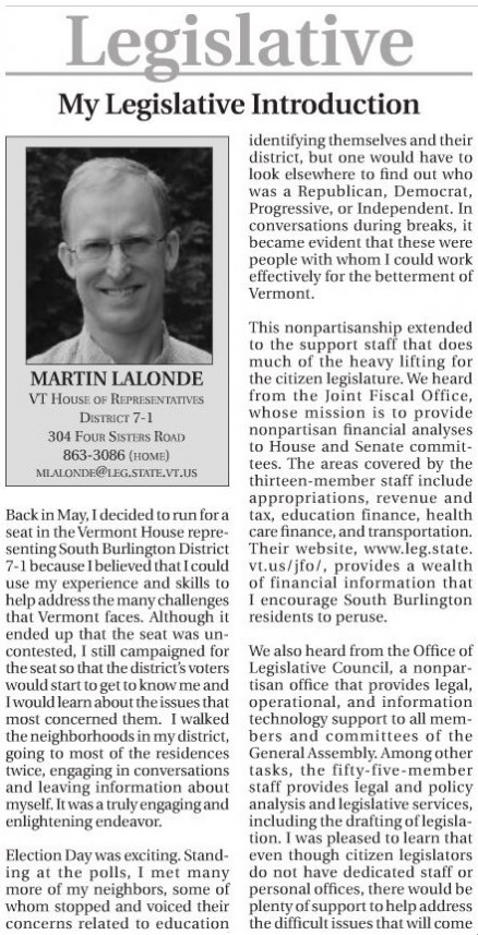 Martin legislative section Other Paper 12 11 A