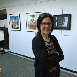 Anne at my Watercolor Show
